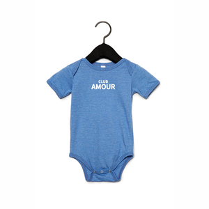 Club amour Baby romper 6-12M Heather blue