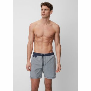 Marc O'Polo 170235 losse herenzwemshort in blauw