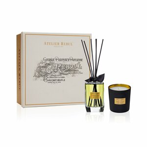 Tobacco Leaves Fragrance Sticks and Scented Candle Set