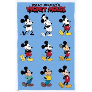 POSTER DISNEY MICKEY MOUSE EVOLUTION