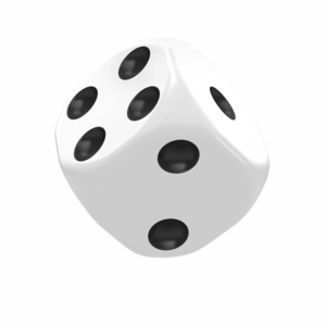 Dice D6 Dice 16 mm Solid - White (12)