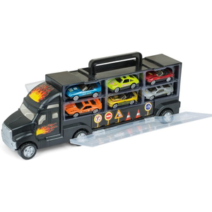 Gear2Play Mini Truck Met 6 Die Cast Auto's