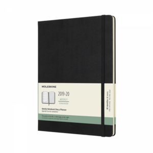 Moleskine Agenda XL weekly notebook zwart 2019-2020