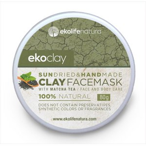 ekoclay Clay face mask with Matcha Green Tea fordry and normal skin, 80g  Plastic jar