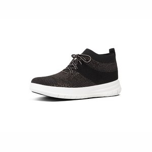 FitFlop Uberknit High Top J30 zwart