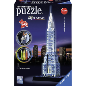 Ravensburger Chrysler Building Night Edition- 3D puzzel gebouw - 216 stukjes