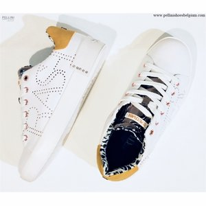 SuperTrash Women Lewi W 1930 Leather Nubuck White Yellow
