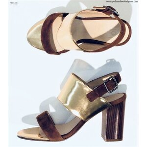 Lolo Women Sandals High Heels Luisa Gold Cognac