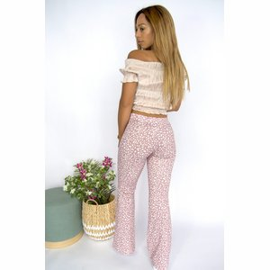 Aubrey Flaired Pants Pink