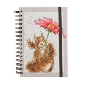 Notitieboek - Squirrel  - Flowers Come after Rain A5