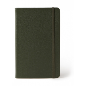 Moleskine Notitieboek Classic Leather collection large gelijnd groen