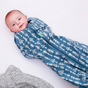 1.0 TOG - All season Ergococoon Swaddle + Sleep Bag Midnight Arrows
