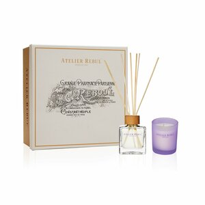 Lavender Giftset with Fragrance Sticks and Scented Candle