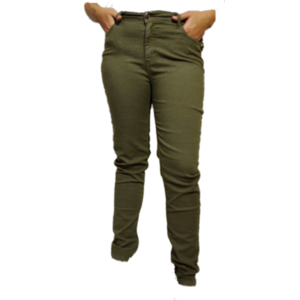H20 Italia Jeans broek  Joy 003 ,Super high , slim fit Khaki gespikkeld