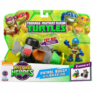 Teenage Mutant Ninja Turtles Patrol Buggy with racer Leo