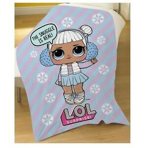 """Official L.O.L. Surprise! """"Snow Flake"""" Character Fleece Snuggle Blanket Throw"""