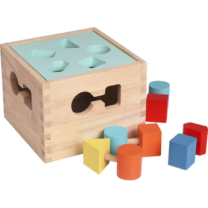 Baby Wooden Shapes Sorting Cube - 12M+ Wooden Toy