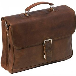 "Plevier business 2-vaks laptoptas 15,6""  cognac"
