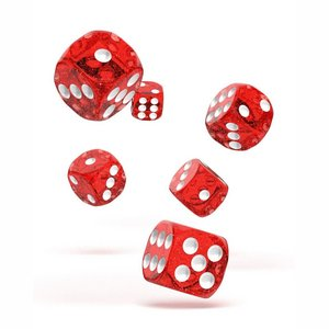 Dice D6 Dice 16 mm Speckled - Red (12)