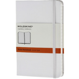 Moleskine notebook pocket wit gelijnd
