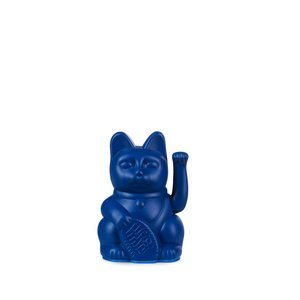 Lucky cat blauw mini