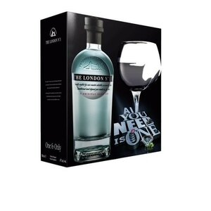 THE LONDON N°1 70CL/47% - GLAS GIFTPACK