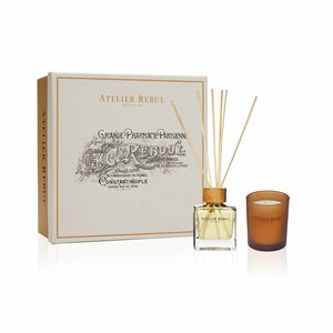 Amber Gift Set with Fragrance Sticks and Scented Candle