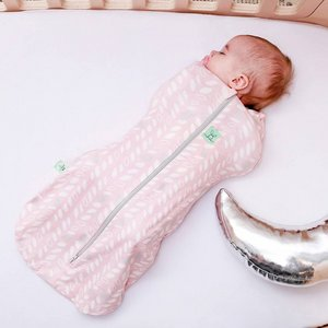 1.0 TOG - All season Ergococoon Swaddle + Sleep Bag Spring leaves