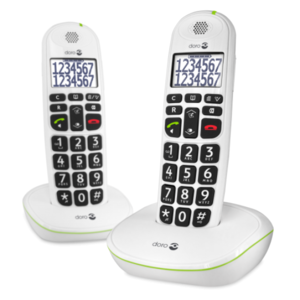 PhoneEasy 110 White STYLISH DUO DECT