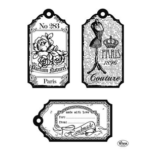 Clear stamp Viva tags Paris