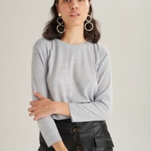 Aimée Cropped Tee Knitted L/S