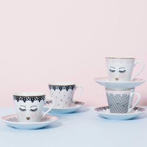 Set Espressotassen - Eyes Open Lace
