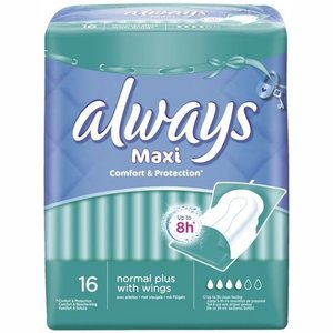 Always pads 16x maxi normal with wings