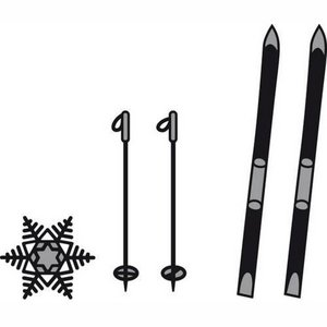 Marianne Design Craftables Skis and snowflakes