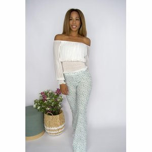 Hannah Flaired Pants Mint