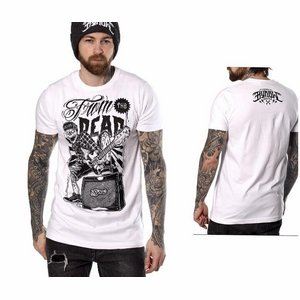 """Hyraw mannen T-shirt print """"From the dead""""wit L"""