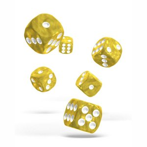 Dice D6 Dice 16 mm Marble - Yellow (12)