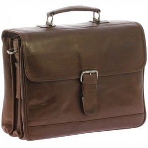 "Plevier Business laptoptas 15,6"" Cognac"