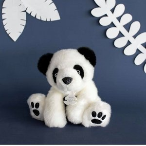 Witte panda knuffelbeer 17cm Histoures D'Ours
