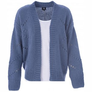 K-Design Cardigan lange mouwen Q504 Ensign Blue