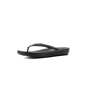 FitFlop Teenslippers Iqushion K39 Crystal zwart
