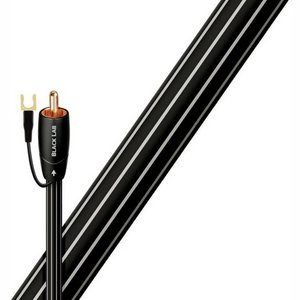 AudioQuest 5m Black Lab RCA audio kabel Zwart