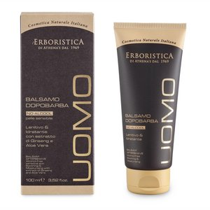 L'Erboristica After Shave balm with Ginseng extract & AloeVera NO ALCOHOL - 100ml / Smoothing Hydrating
