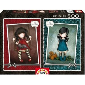 Educa -Santoro London - legpuzzel 2 x 500 stukjes Ruby