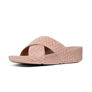 FitFlop Slippers T96 Lulu Chevron Cross Slide roze