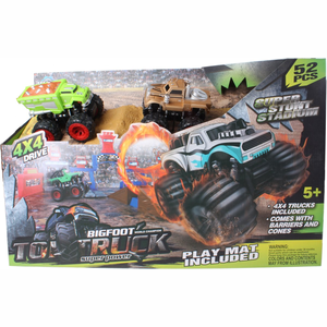 Lg-imports Racebaanset Monstertruck 52-delig