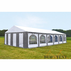 Partytent 6x12 Premium PVC Brandvertragend Grijs/Wit