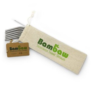 Bambaw set of 6 Stainless Steel Straws