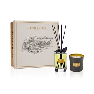 Hemp Leaves Fragrance Sticks and Scented Candle Giftset