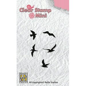 Nellie's Choice Clear stamp vogeltjes